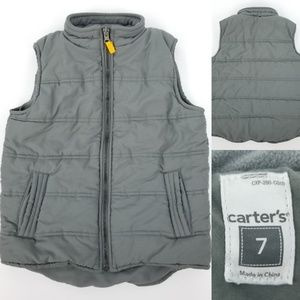 Carts Boys 7 Poly Filled Warm Puffer Vest Pockets